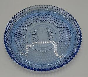 Indiana Carnival Glass Circa 1950's Diamond Point Torte Platter