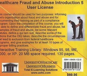 Healthcare Fraud and Abuse Introduction, 5 Users, Daniel Farb
