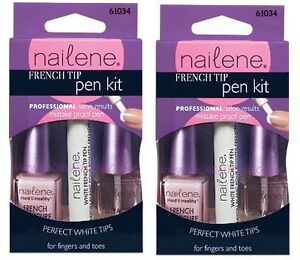 Nailene French Tip Pen Kit Polish  White Manicure Tips