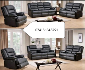 New Recliner Leather 3+2 Seater Sofa In Different Colors
