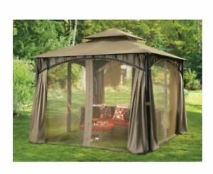 10 x 10 Canvas Gazebo with Netting