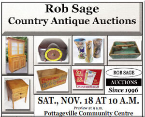 Rob Sage Old Fashioned, LIVE Country Antique Auction!
