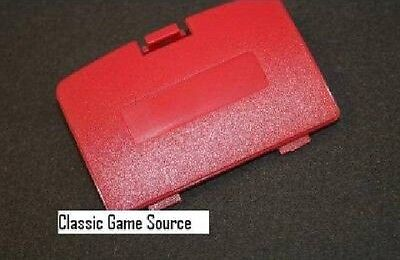 (NEW CRIMSON RED BERRY GAME BOY COLOR REPLACEMENT BATTERY COVER LID DOOR )