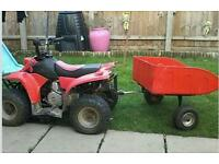 Quad bike and trailer