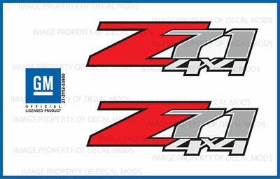 set of 2: 2009 Chevrolet Silverado Z71 4x4 decals - F - 1500 2500 HD stickers