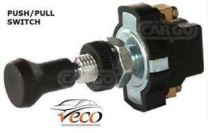 LONG NECK ON OFF PUSH PULL SWITCH 12VOLT 24VOLT 2 SCREW TERMINALS 180104 K459