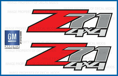 set of 2: 2011 Silverado Z71 4x4 decals - F - 1500 2500 GM stickers Chevy bed