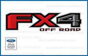 set of 2: 2016 Ford F150 FX4 Off Road Decals F offroad Stickers Truck bed Side