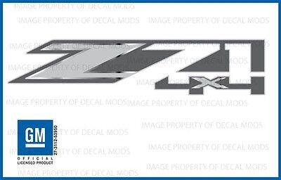 Set Of 2  2015 Gmc Sierra Z71 4X4 Decals Bed Stickers Fmt Metallic Strip Chrome