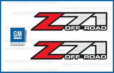 Chevy Z71 Decals (2001 - 2006 Chevy Silverado Z71 Off Road decals - F - stickers 1500)