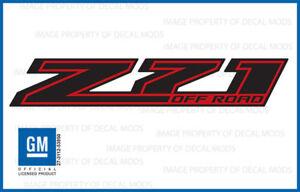 2: 2018 Z71 Off Road Decals stickers Chevy Silverado GMC Sierra Red Black FRBLK