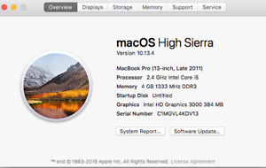 """Macbook Pro 13"""" Late 2011 - Mint Condition"""