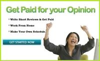 Get paid for writing short reviews