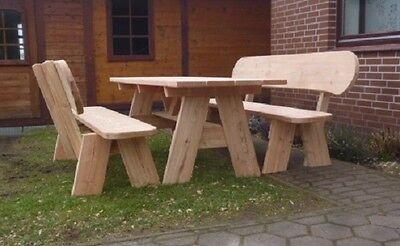 Gartenmöbel aus Lärchenholz..Rustikale Sitzgruppe.Rentner Geschenk.Geschenk.Bank