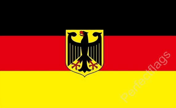 GERMANY STATE CREST FLAG - GERMAN NATIONAL FLAGS - Hand 3x2, 5x3, 8x5 Feet