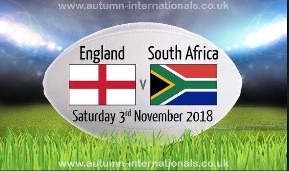 422c00aea11 2 x England vs South Africa - Autumn Internationals Twickenham tickets for 3rd  November 2018