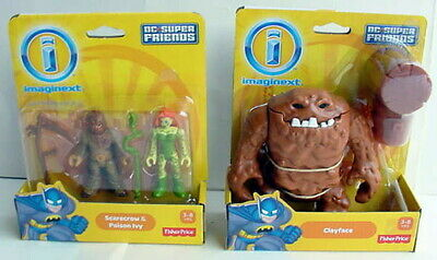 2013 Imaginext DC Super Friends CLAYFACE SCARECROW POISON IVY Action Figure LOT