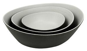 zuperzozial 3er Set Schalen,Schüsssel,Salatschüssel,Bowl Trible-Double Raw Earth