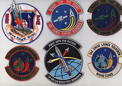 USAF 30SW 30LSS 4SLS & 1ASTS(was 2SLS) Squadron & NRO Grand Slam Launch Patches