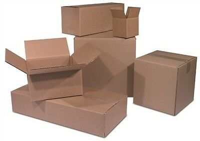 100 8x6x4 Cardboard Shipping Boxes Corrugated Cartons