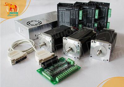 3axis Nema23 Step Motor428oz3asingle Shaftdriver Cnc Kit