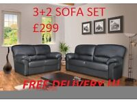 THE LILY 3+2 ITALIAN STYLE SOFA IN HIGH QUALITY PU BRAND NEW PACKED £310 PLUS FREE DELIVERY