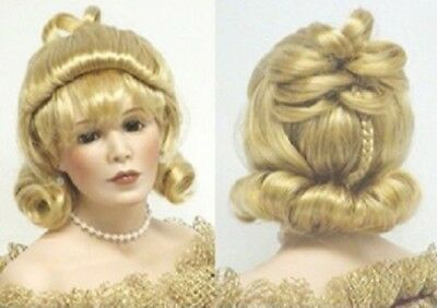 Monique Collection Doll wig Size 5/6 -gldn strw.- Willow - New! MIP Syn Mohair!