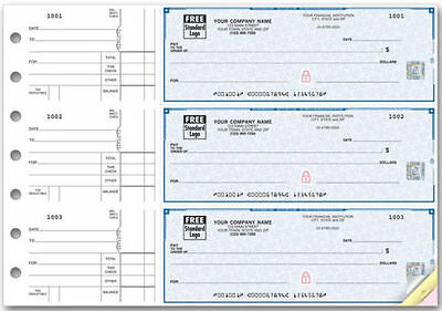 7 Ring 3 On A Page Business Checks 250ct. w/Safety Hologram *Authorized Dealer*