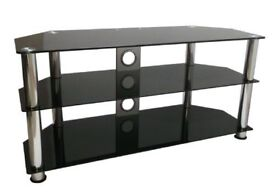 Wide Tinted glass television cabinet