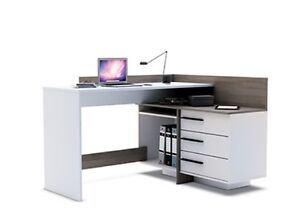 Home Office Furniture Computer Desk Study White Dark Oak Ebay
