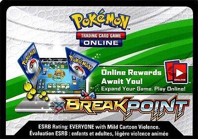 Pokemon Tcg Xy Breakpoint   Virtual Online Code Card New X 50
