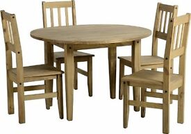 Corona Drop Leaf Dining Table + 4 Chairs