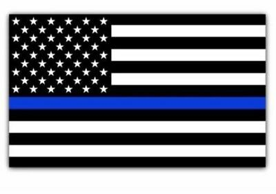 Blue Lives Matter Police USA American Thin Line Flag Car Decal Sticker 3