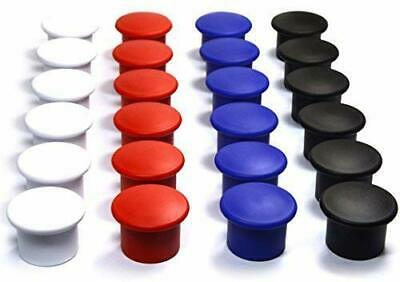 24 Pieces Magnetic Whiteboard Round Holders Assorted Color