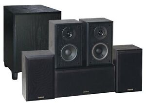 MINT CONDITION ADVENT 5.1 SPEAKERS & SUB WITH BRACKETS/WIRE London Ontario image 1