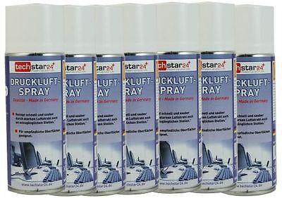 Druckluftspray 7 x 400ml Dose Druckluft AIR Duster Reinigungsspray