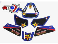 New YAMAHA PW 50 90-14 Rockstar Blue Graphics Sticker Decal Kit PW50 PEE WEE