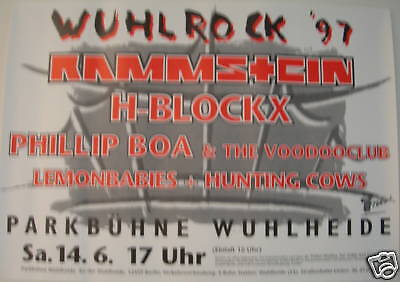 RAMMSTEIN GERMAN CONCERT TOUR POSTER 1997
