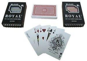ROYAL 100% PLASTIC PLAYING CARDS 2 DECK SET BRIDGE POKER