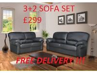 THE LILY ITALIAN STYLE SOFA IN HIGH QUALITY PU BRAND NEW PACKED £310 PLUS FREE DELIVERY