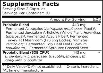 PROBIOTICS SUPPLEMENT Organic Prebiotics 50 Billion CFU Shelf Stable 60ct AMEN - $35.49