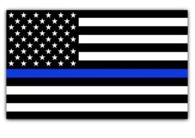 "Police Blue Lives Matter American Flag Car magnet 6""x4"" Sign Buy 2 Get 3rd Free"