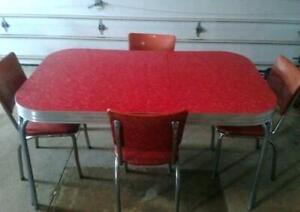 Red Chrome Table