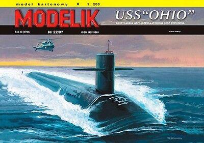Modelik 22/07 -  USS  OHIO    1:200  mit Lasercutteilen