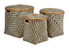 Round Decorative Baskets with Lid