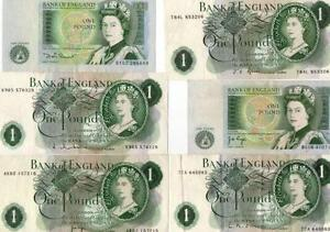 Old One Pound Notes