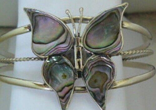 Abalone Butterfly cuff bracelet