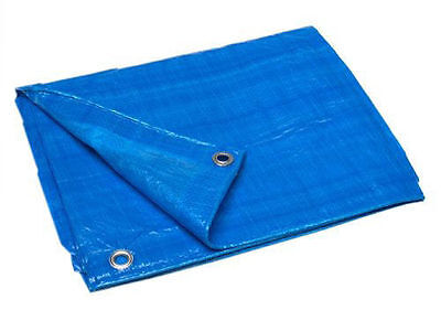 tarp 33 x46' BLUE Polyethyle ROOFING CONTRACTORS HURRICANE roof boat