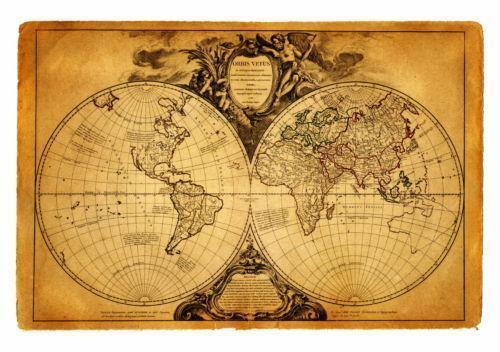 Framed poster antique old vintage v2 world map wall art antique the ancient world genuine antique map gumiabroncs Images