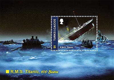 Turks & Caicos 2012 - R.M.S. 100th Anniversary Titanic - Souvenir Sheet MNH